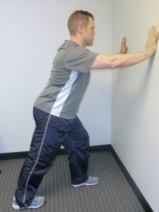 Gastroc stretch 225x300 Physical Therapy for Achilles Tendinitis